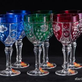 6 хрустальных бокалов для вина, Anna Hutte, Германия, сер. 20 в